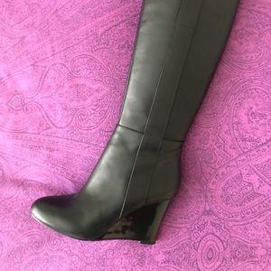 Nine West boots with wedge heel, size 6M - EUC